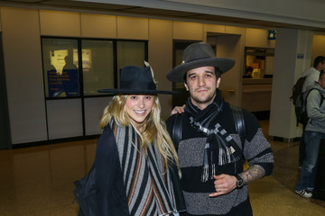 Mark Ballas Celebrities Are Seen at Salt Lake City Airport