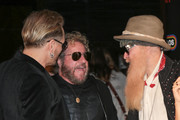 Matt Sorum, Sammy Hagar, and Billy Gibbons are seen out in Los Angeles, California on Feb. 1, 2018.