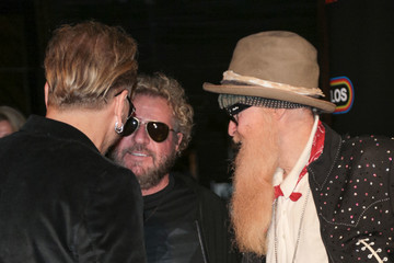 Matt Sorum Sammy Hagar Matt Sorum, Sammy Hagar, and Billy Gibbons Are Seen Outside Avalon in Hollywood