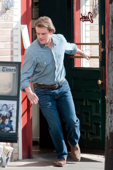 "Matt Damon is in a hurry for a scene in ""We Bought a Zoo""."