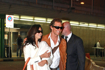 Matthew McConaughey Levi Mcconaughey Matthew McConaughey and His Family in Milan