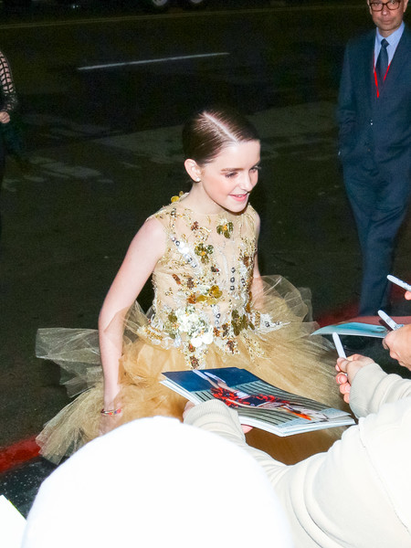 Mckenna Grace Is Seen Outside The 'Captain Marvel' Premiere At Dolby Theatre
