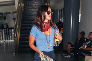 Megan Fox is seen at Los Angeles International Airport in Los Angeles, California.