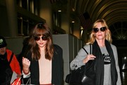 Melanie Griffith and Dakota Johnson at LAX