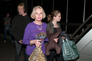 Antonio Banderas Tippi Hedren Melanie Griffith and Family at LAX