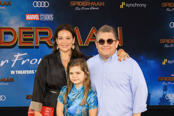 Meredith Salenger Patton Oswalt Premiere of Sony Pictures' 'Spider-Man Far From Home'