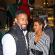 Michael Jai White Michael Jai White Keshia Knight Pulliam Attends The Opening Night Of The Life-Sized Gingerbread House Experience