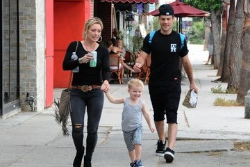 Mike Comrie Hilary Duff Out with Her Family