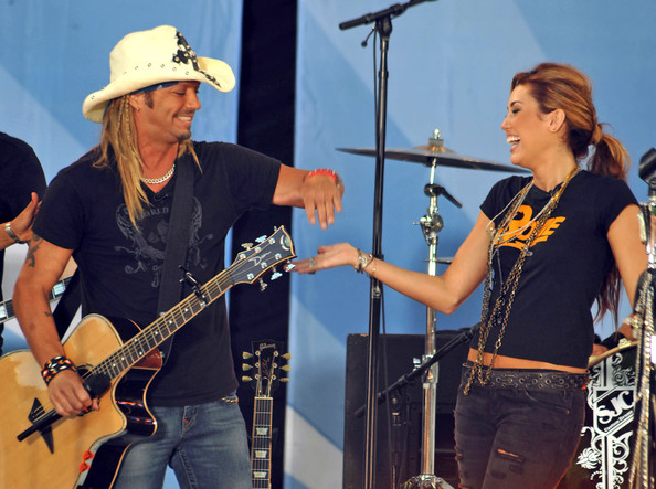 Miley Cyrus Miley Cyrus and Bret Michaels team up for a duet of the Poison ...