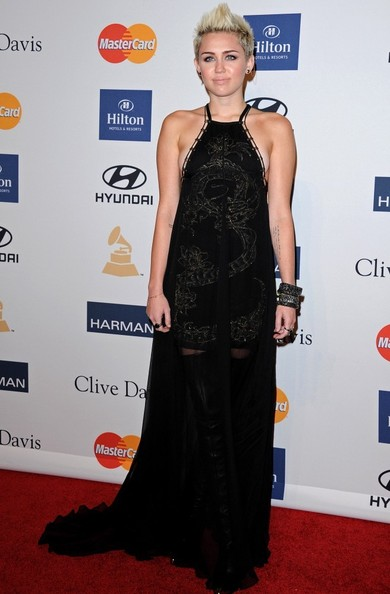 Miley Cyrus Clive Davis and The Recording Academy s 2013 Pre-GRAMMY    Miley Cyrus Grammys 2013
