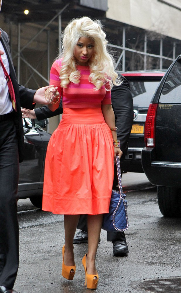 Nicki Minaj In Nicki Minaj In Bright Colors At Fashion Week 1 Of 3 Zimbio