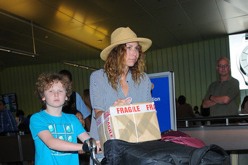 Minnie Driver Minnie Driver and Her Son at LAX