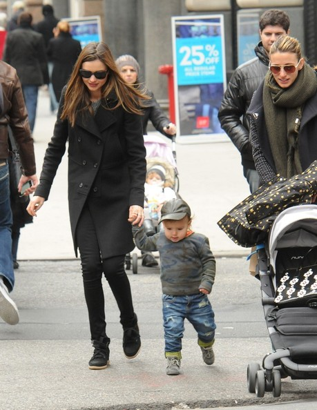 miranda kerr and flynn out and about