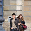 Miranda and Orlando stroll Paris