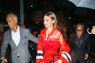 Mohamed Hadid Gigi Hadid Outside The TommyXLewis Launch Party