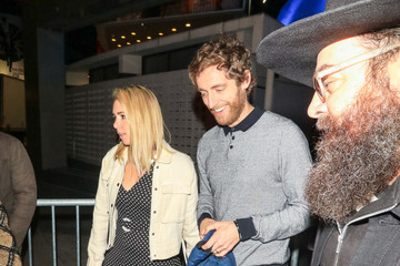Mollie Gates Thomas Middleditch Outside Andre The Giant Premiere After Party At Lure Nightclub