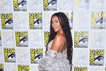 Nafessa Williams 2019 Comic-Con International - 'Black Lightning' Photo Call