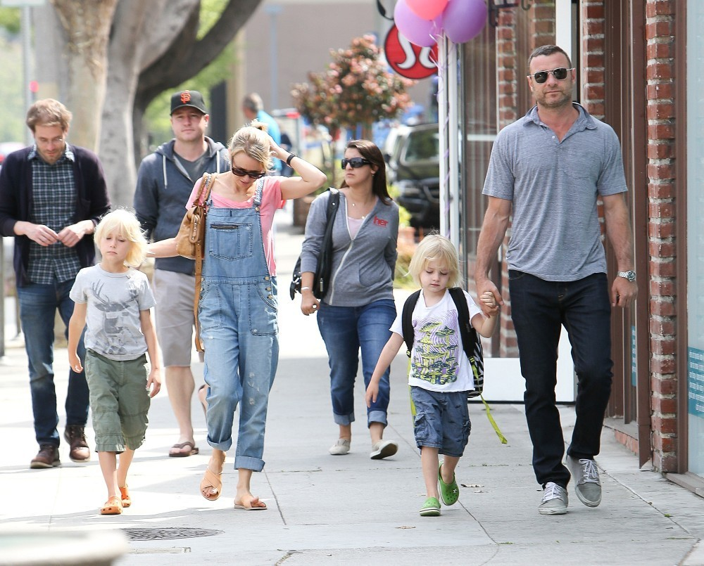 Liev Schreiber in Naomi Watts and Family Out and About ...