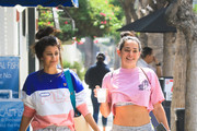 Natalie Martinez and Sibylla Deen are seen in Los Angeles, California.