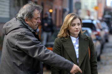 Neil Jordan Chloe Grace Moretz on the Set of 'The Widow'