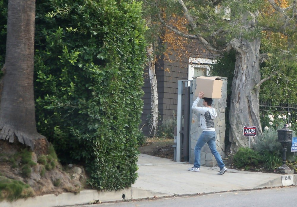 Neil Patrick Harris And David Burtka Move Boxes Into Their