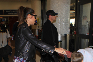 Nick Lachey Vanessa Lachey Nick Lachey and Family Are Seen at LAX