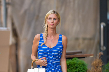 Nicky Hilton Nicky Hilton Wears Blue on a Walk