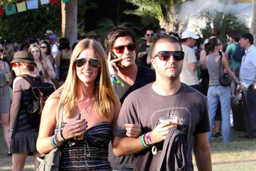 David Katzenberg Nicky Hilton and David Katzenberg at Coachella