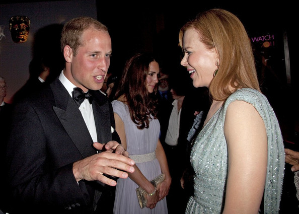 Nicole Kidman Prince William and Catherine, Duchess of Cambridge meet with those attending the British Academy of Film and Television Arts (BAFTA) event supporting young British talent.