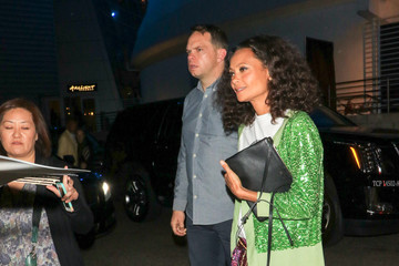 Ol Parker Thandie Newton Outside ArcLight Theatre