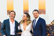 Brad Pitt, Margot Robbie and Leonardo DiCaprio are seen attending Sony Pictures' 'Once Upon a Time in Hollywood' Los Angeles Premiere in Los Angeles, California.