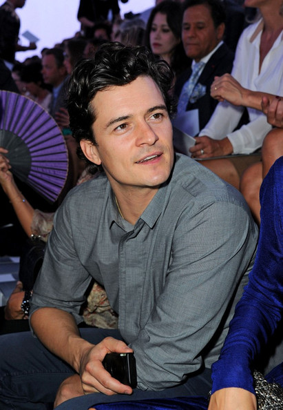 Orlando Bloom Christian Dior Spring/Summer 2012 Ready-to-Wear at the Rodin Museum during Paris Fashion Week.