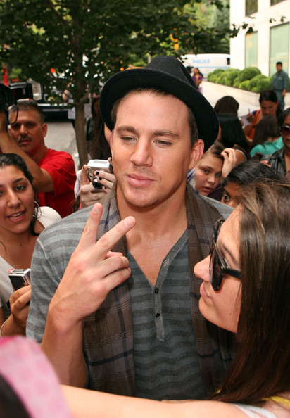 Famous faces come and go outside the Gramercy Hotel.