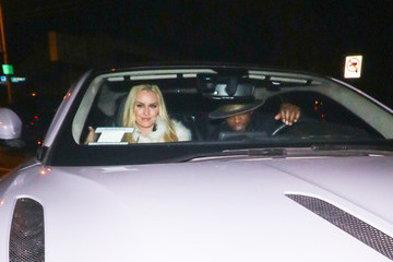 P.K. Subban Lindsey Vonn Outside Craig's Restaurant In West Hollywood