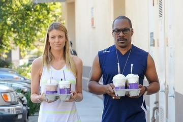 Paige Butcher Paige Butcher and Eddie Murphy at Coffee Bean