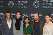 Hugh Dancy, Michelle Monaghan, Jessica Goldberg, Aaron Paul and Emma Greenwell are seen attending the Paley Center For Media's presentation of Hulu's 'The Path' Season 3 premiere at The Paley Center for Media in Los Angeles, California.