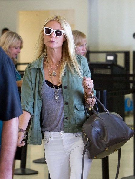 First Look: Hedi Slimane for Saint Laurent Paris Handbag, Worn by Gwyneth Paltrow