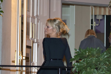 Pamela Anderson Celebrity Sightings at Sunset Tower Hotel in West Hollywood