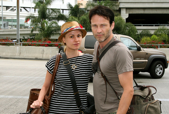 Anna+Paquin in Anna Paquin and Stephen Moyer Depart LAX