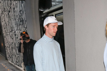 Patrick Schwarzenegger Patrick Schwarzenegger And Abby Champion Outside Craig's Restaurant In West Hollywood