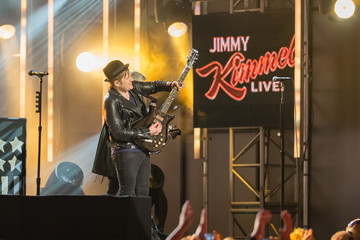 Patrick Stump 'Fall Out Boy'  at 'Jimmy Kimmel Live'