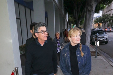 Paula Harwood Peter Gallagher Outside Writer's Guils Theatre