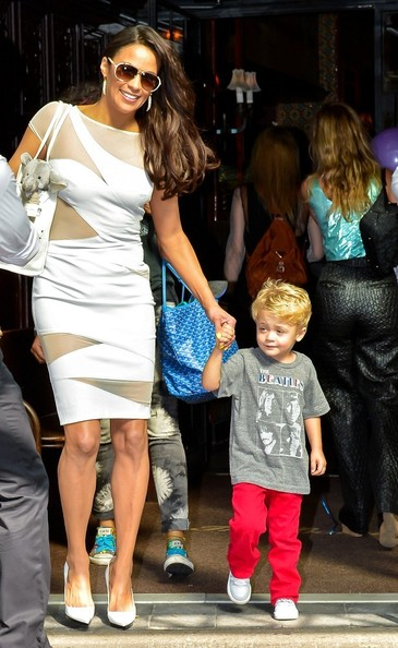 Paula Patton Out with Her Son Julian