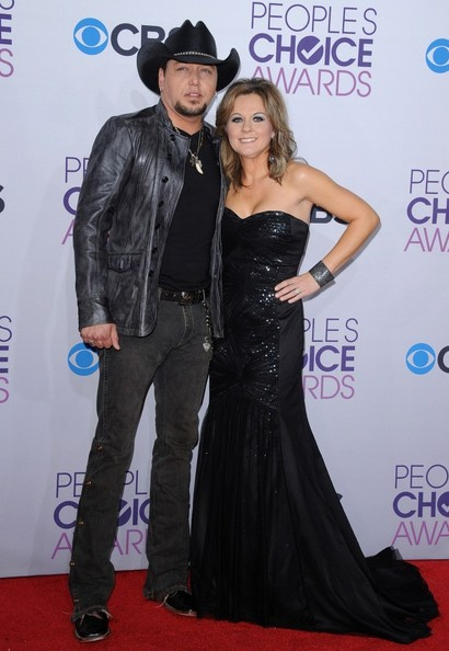 People's Choice Awards 2013..Nokia Theatre L.A. Live, Los Angeles, CA..January 9, 2013..Job: 130109A1..(Photo by Axelle Woussen)..Pictured: Jason Aldean and Jessica Aldean.