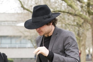 Pete Doherty Pete Doherty Heads to a Meeting
