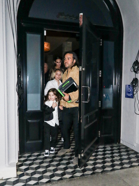 Pete Wentz outside Craig's Restaurant in West Hollywood