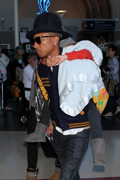 Pharrell Williams and His Son at LAX
