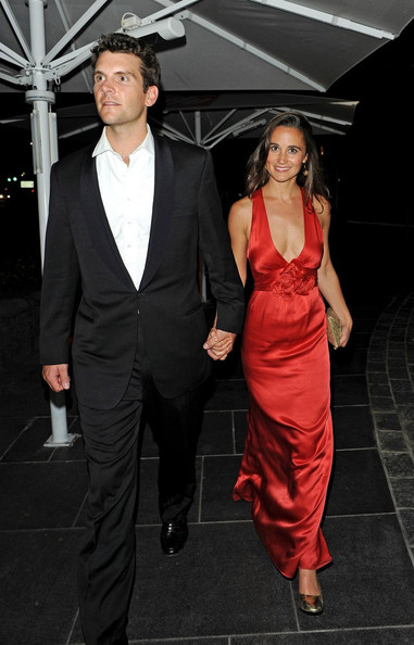 Pippa Middleton Pippa Middleton looks red hot as she leaves the Boodles Boxing Ball holding hands with boyfriend Alex Loudon.