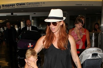 Poppy Montgomery Poppy Montgomery Spotted at LAX