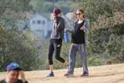 Pregnant Natalie Portman Out For a Hike With a Friend